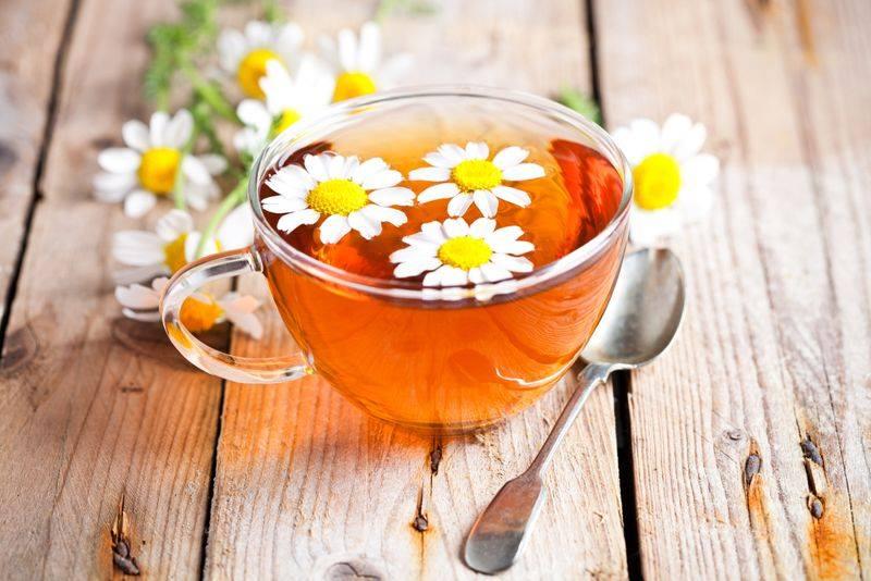 Chamomile tea for burned stomach
